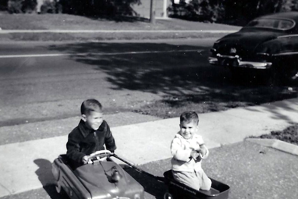 Elliot and Mitchell Katz in the 1950s