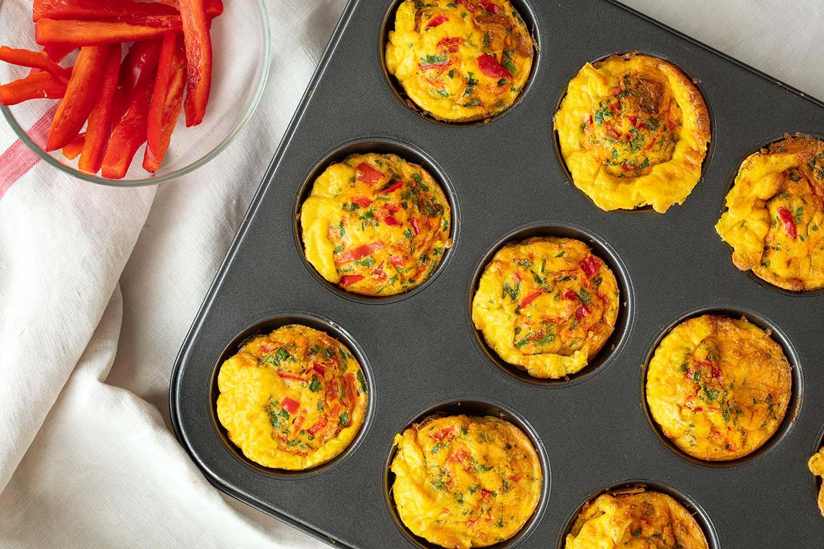 Eggs baked in a muffin tin