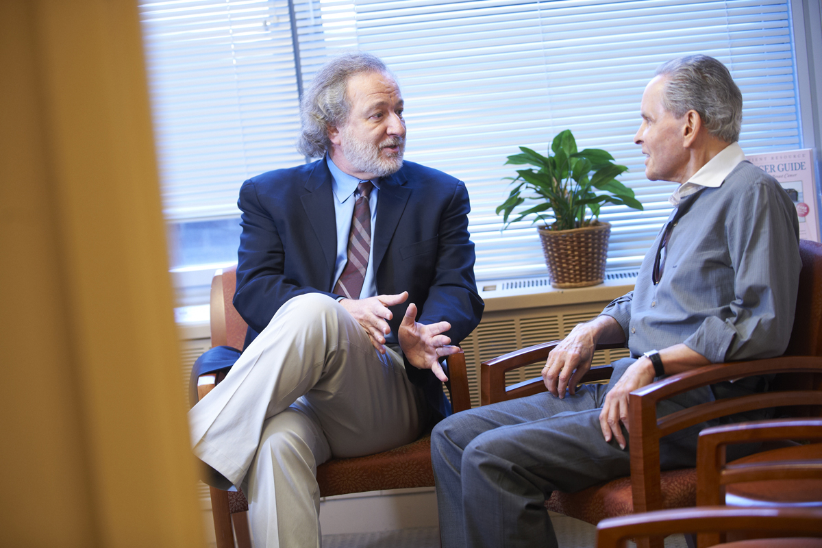 William Breitbart (left), Chair of the Department of Psychiatry and Behavioral Sciences, leads a group dedicated to clinical care, teaching, and research into the psychological aspects of cancer.