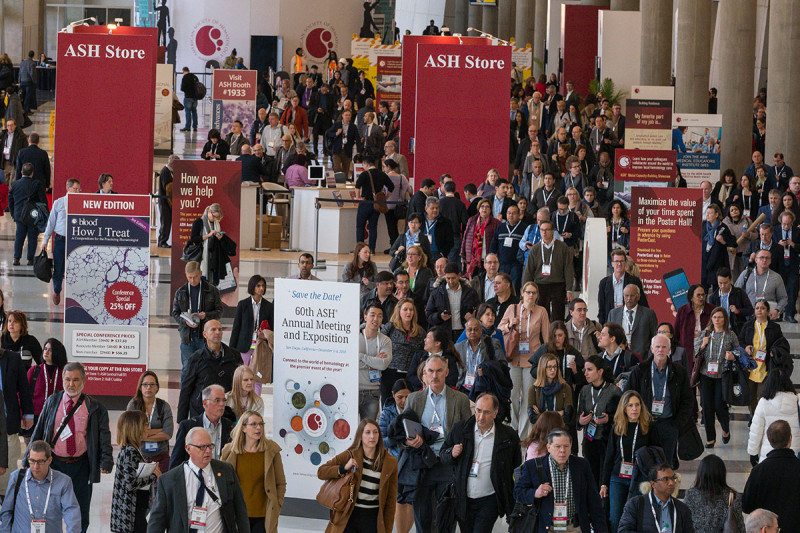 A crowd at the meeting of the American Society for Hematology