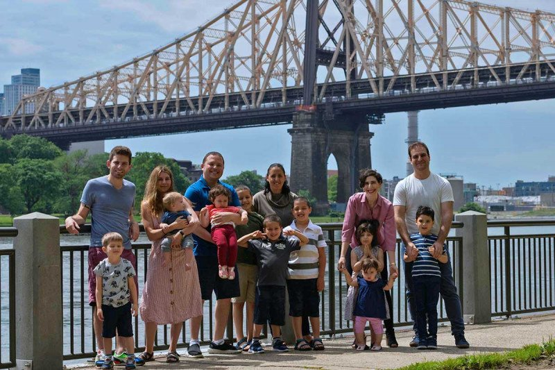 Heller lab postdocs with their families