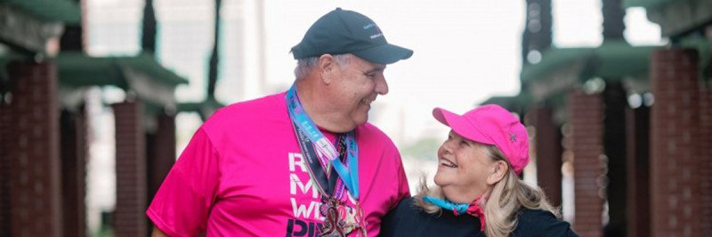 Memorial Sloan Kettering male breast cancer patient Jim Keegan and his wife Pat