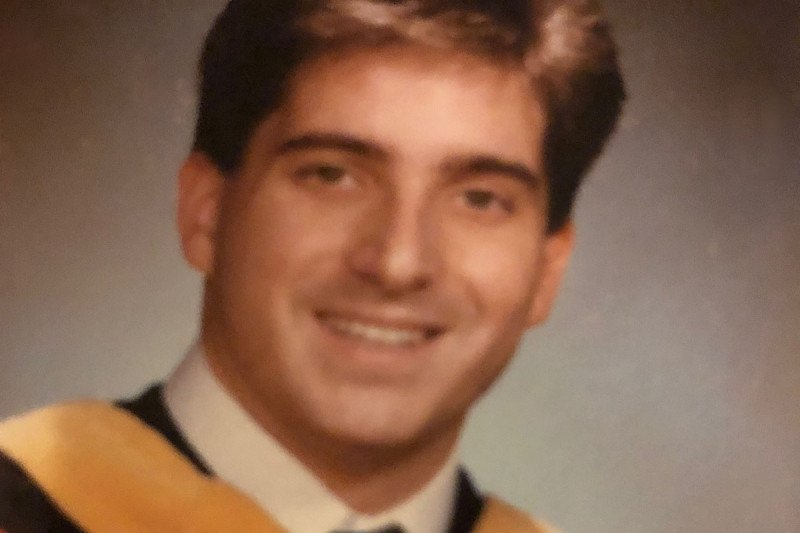 Kevin Browne's nursing school graduation photo, 1987.