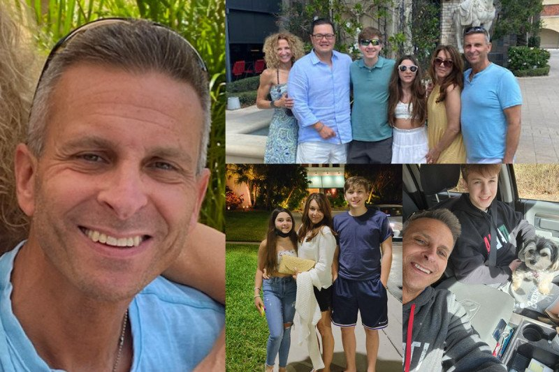 Collage of photos of Rich Delgrosso and his family