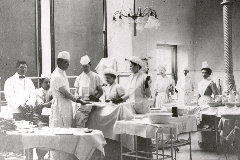 Then: Surgery was the only form of treatment available when the New York Cancer Hospital opened in 1887, and was much more extensive than current approaches.