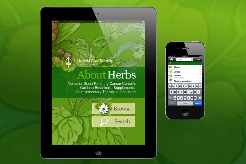 Pictured: About Herbs App