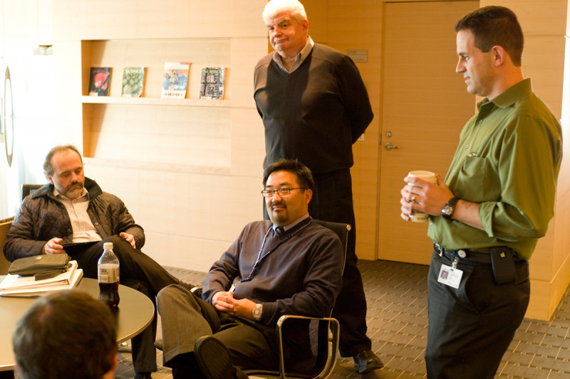 Human Oncology and Pathogensis faculty members Marc Ladanyi, Christopher Park, James Fagin, and Ross Levine