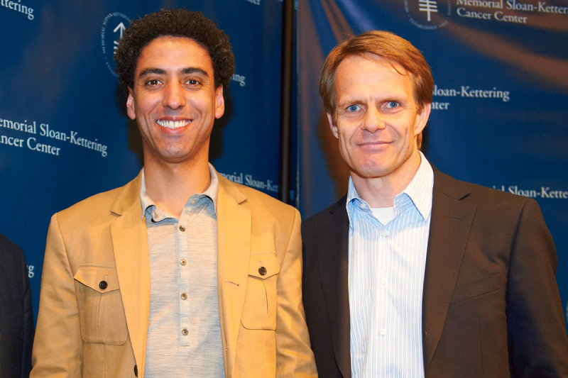 PhD recipient Yosif Ganat (left) with his faculty mentor, stem cell biologist Lorenz Studer.