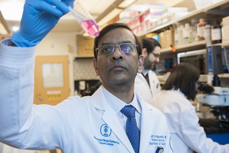 Physician-scientist Prasad Adusumilli is a leader in developing CAR T cell therapies for solid tumors such as lung cancer and mesothelioma.