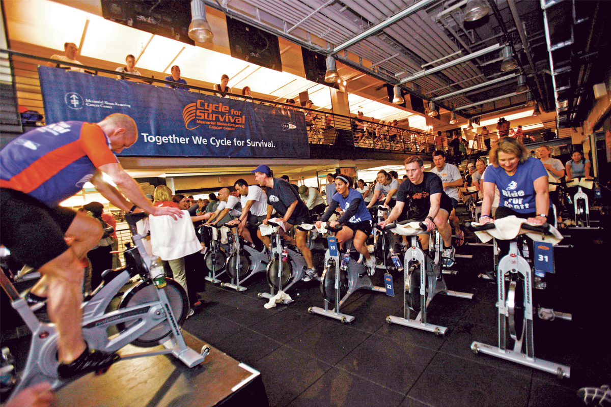 Participants in Cycle for Survival