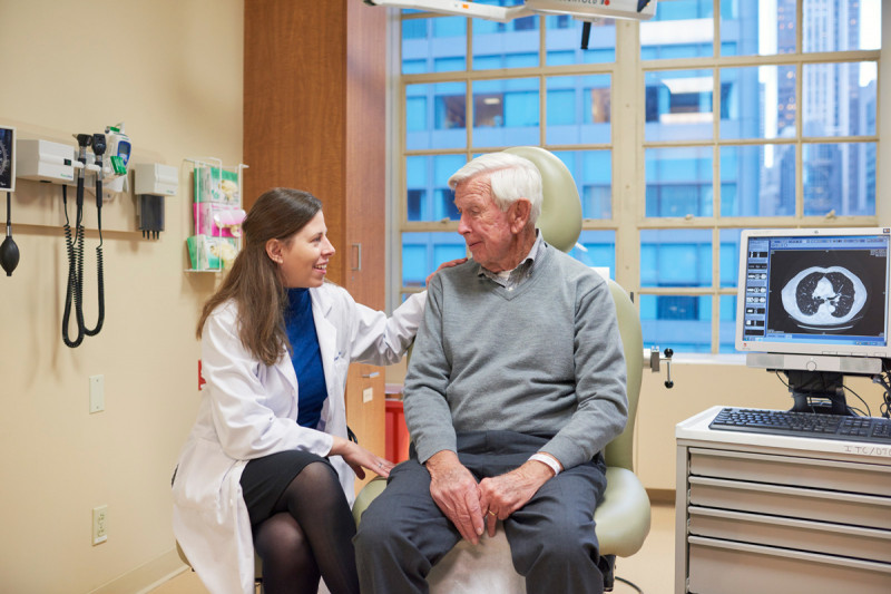 In the clinic of medical oncologist Margaret Callahan