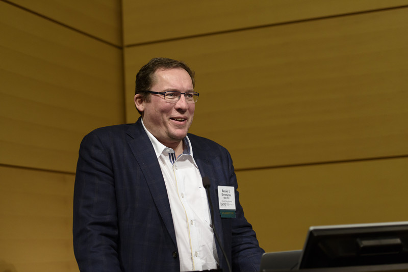 Renier Brentjens, Director of Cellular Therapeutics at MSK, co-directed the symposium.