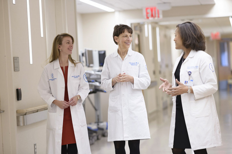Judith Nelson, MD, JD (center), Nurse Practitioner Robin Rawlins-Duell (right), and fellow Jane Steinemann, MD (left)