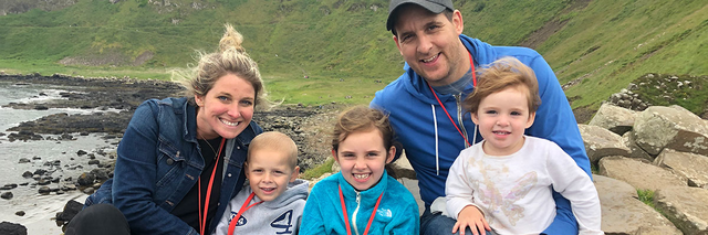The Glackin family poses for a photo in Ireland
