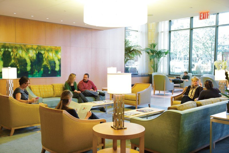 The Lobby of the Evelyn H. Lauder Breast Center