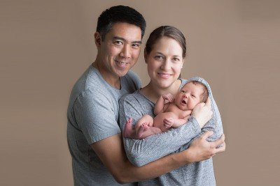 Katelyn Gamson, her husband Nick and daughter Emily Ruth
